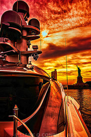 attessa 4,superyacht,painting,photo,airbrush,art,abstract,new york,statue,liberty,hudson,river,sat comms,sunset