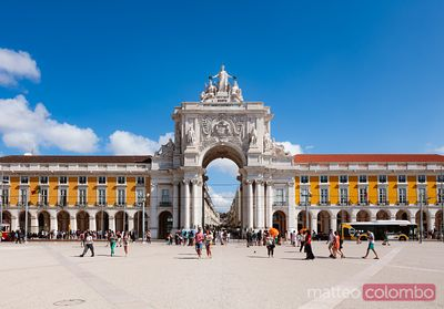 Praca do Comercio and Arco de Rua Augusta, Lisbon, Portugal