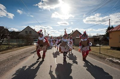 Masopust, Carnival in the village of Vortová, near Hlinsko, Czechia