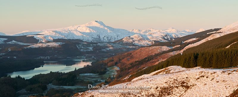 Image - Ben Lomond, Loch Ard, Trossachs, Winter Panoramic