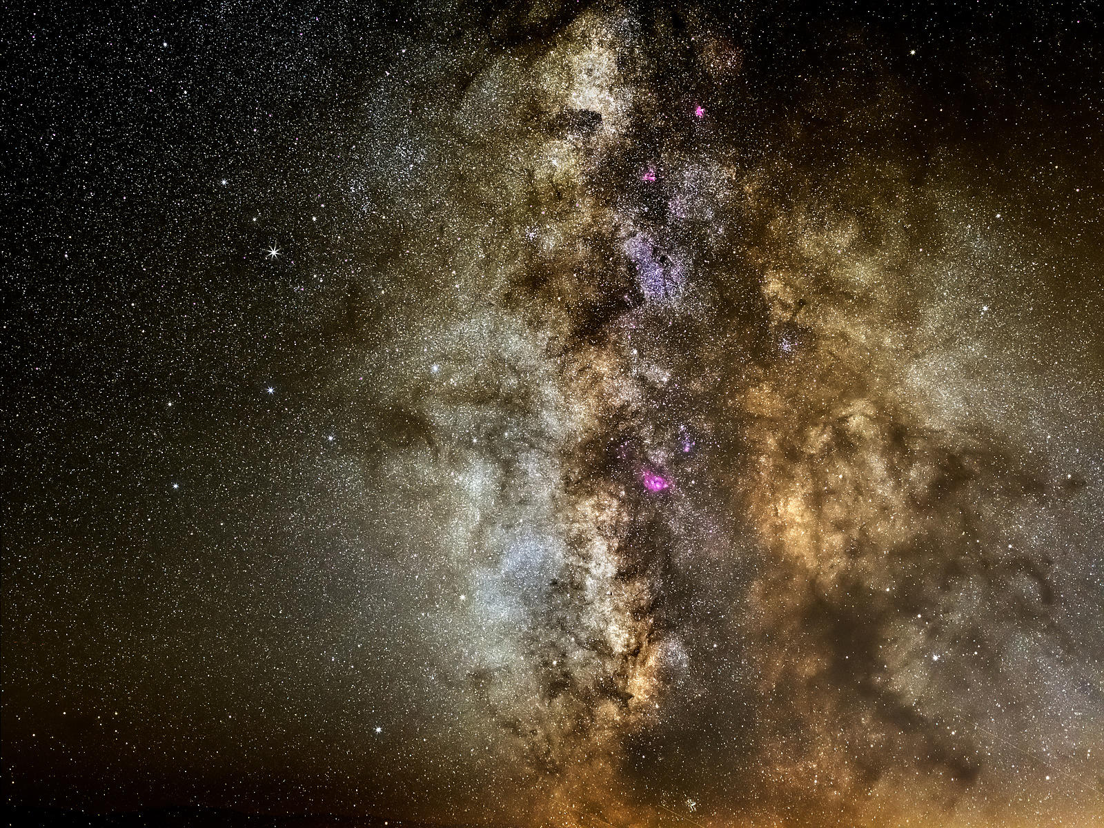 Constellation of Sagittarius and the Milky Way