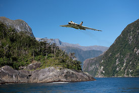 Vulcan leaving Milford Sound