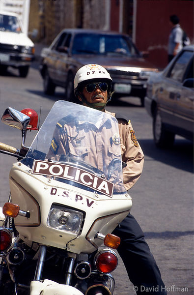 Traffic motorcycle policeman, Mexico