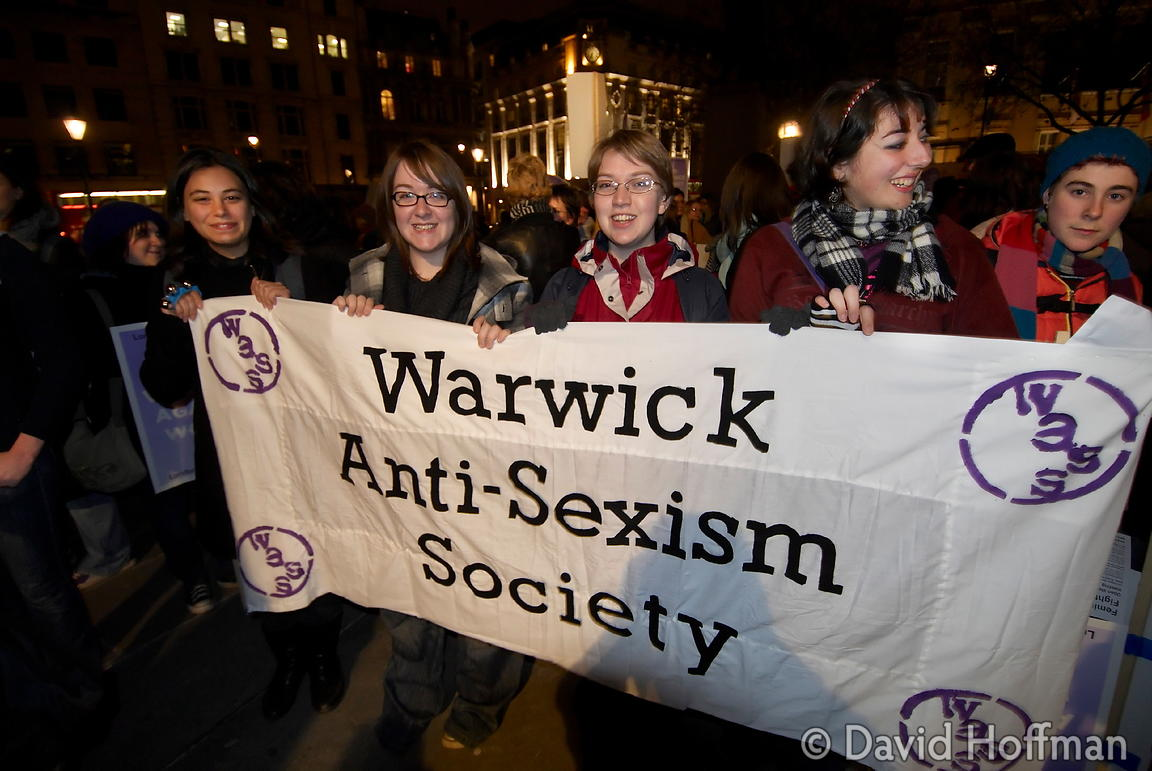 071124_ReclaimNight_071 Feminist organised 'Reclaim The Night' march and rally. London 24 November 2007.