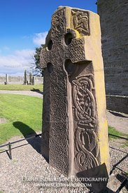 Image - Pictish standing stone at Abermemno church, Angus, Scotland