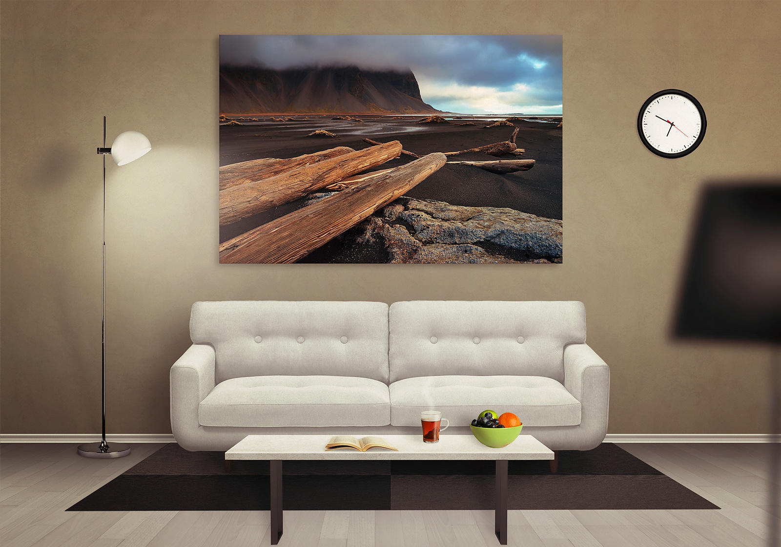 Canvas of an image at Vestrahorn in Iceland