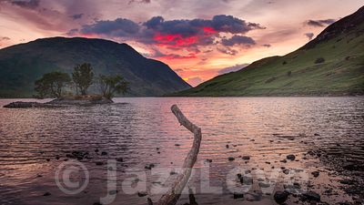 Sunset in Lake District
