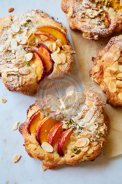 Peach and Almond Bostock
