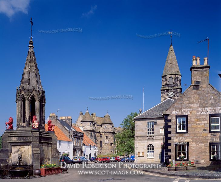 Image - Bruce Fountain, Falkland, Fife, Scotland