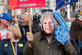 #124565,  Anti-Brexit march to Parliament Square, London, 23rd March 2019.  A million people of all ages marched demanding a ...