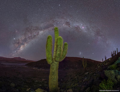 The galactic arch in balance - Atacama desert - Chile