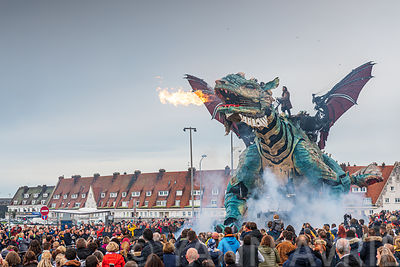 Le Dragon de Calais, France, Hauts de France.