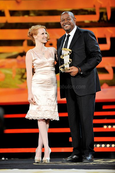 Tribute to Forest Whitaker Jessica Chastain and Forest Whitaker. 11e Marrakech International Film Festival 2011