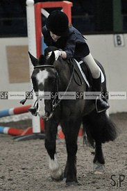 Unaffiliated showjumping. Brook Farm Training Centre. Essex. UK. 18/02/2019. ~ MANDATORY Credit Garry Bowden/Sportinpictures ...