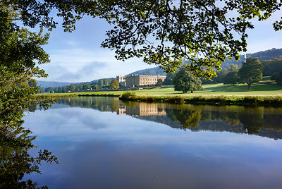 Chatsworth and the river Derwent