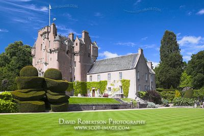Image - Crathes Castle, croquet lawn and topiary, Aberdeenshire, Scotland