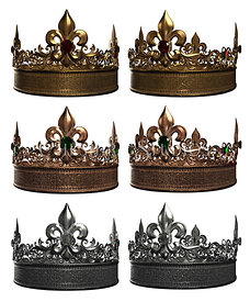 Royal Crowns in Various Colors