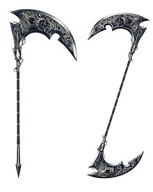 Two Dark Reaper Scythes