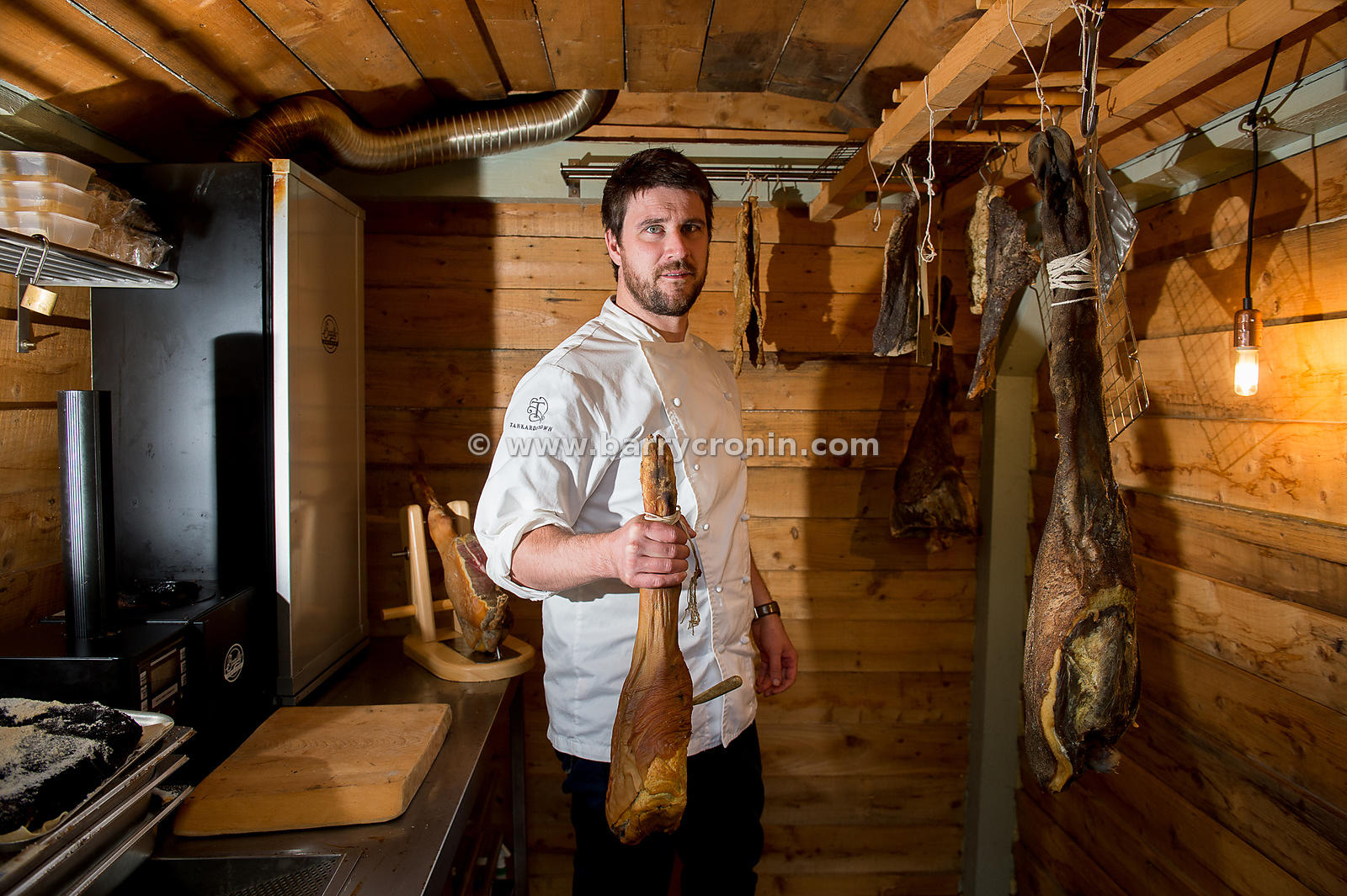 31st August, 2016.Chef Rob Krawczyk of Brabazon restaurant at Tankardstown House in Slane.Rob is pictured in his smokehouse a...