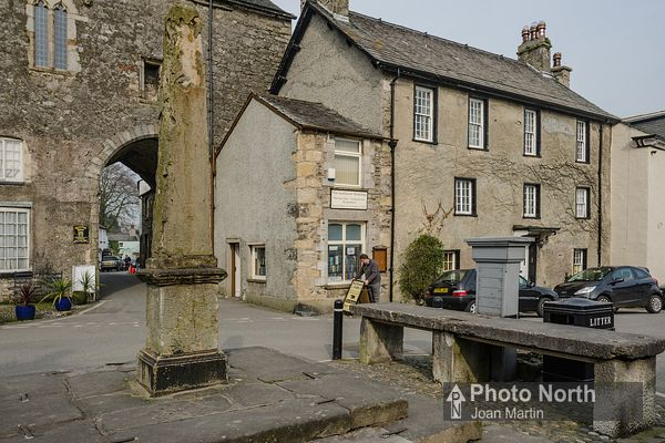 CARTMEL 06B - The Market Cross, Fish Stones and Pump