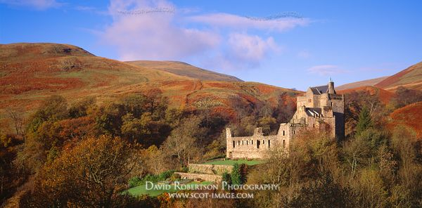 Image - Castle Campbell Panoramic, Dollar, Clackmannanshire, Scotland