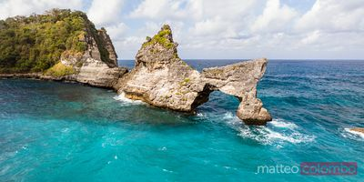 Natural arch panoramic, Nusa Penida, Bali, Indonesia
