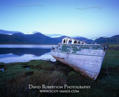 Image - Old boat lying beside Loch Scridain, Isle of Mull, Scotland