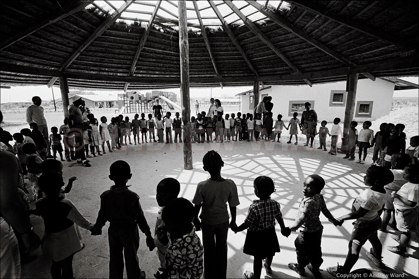 1985. Tanzania. School in an ANC guerrilla camp, heralding the dawn of a new South Africa where these children are now free a...