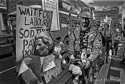 YQ78-8 Poll Tax protests, Hackney, May/June 1990.