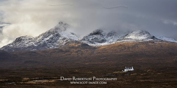 Image - The Cuillin and the Alltdearg House near Sligachan, Isle of Skye, Scotland.