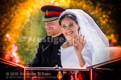Prince Harry and Meghan Markel on their wedding day