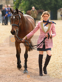 Clara Loiseau and WONT WAIT at the trot up, Mitsubishi Motors Badminton Horse Trials 2019
