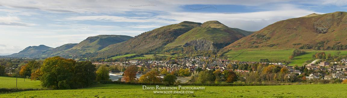 Image - Tillycoultry and the Ochils, Clackmannanshire, Scotland, panorama