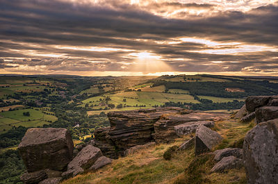 Sunset from Curbar Edge