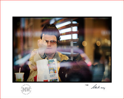 Linited edition wall print  Elvis busker unhappy