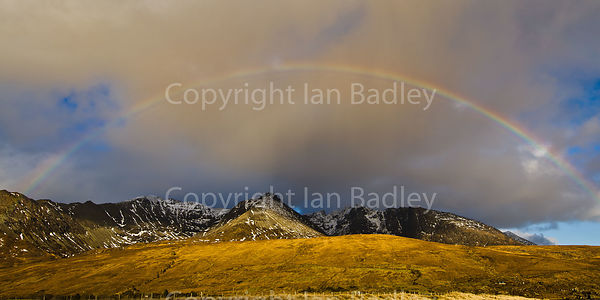 Rainbow over the Cuillin Mountains