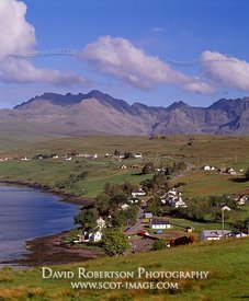 Image - Carbost and Black Cuillin, Skye