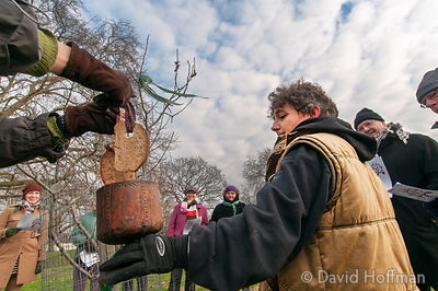 Wassailing in Hackney, London, January 13, 2013.