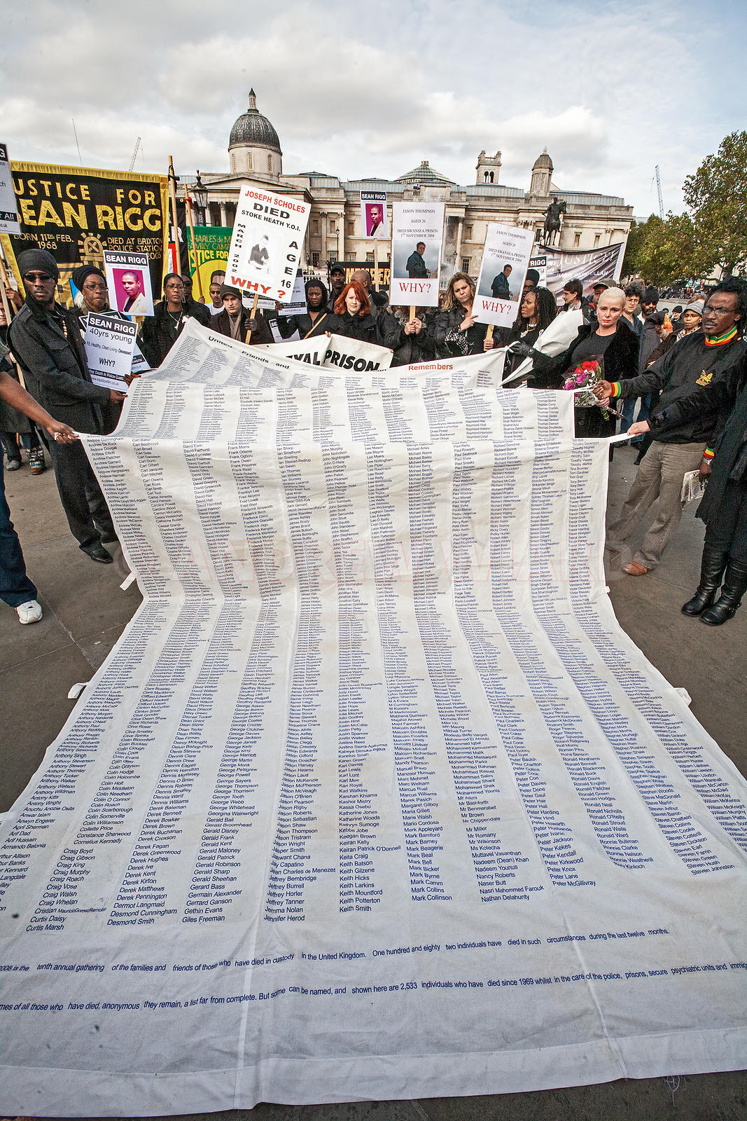 A list of all those who have died in police custody, prisons and psychiatric hospitals, at the United Friends and Families Ca...