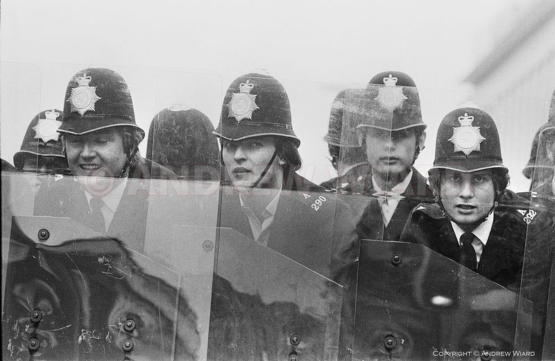 England, UK . 13.8.1977. London . Lewisham. The Battle of Lewisham. British police used riot shields for the first time outsi...