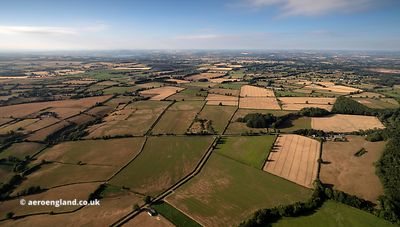 Somerset farmland from the air