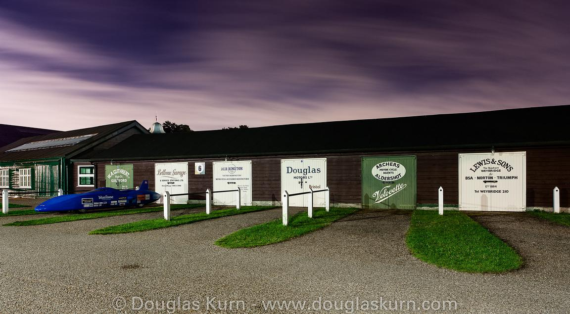 Car Workshops, Brooklands Museum, Brooklands Race Track, part of The Spirit Of Brooklands series, available as limited editio...