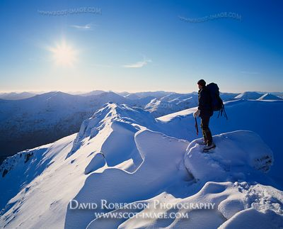 Image - Winter Mountain Walking, Kintail, Scotland, Snow