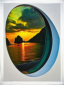 art,painting,airbrush,maridome,superyacht,sunset,capri,italy