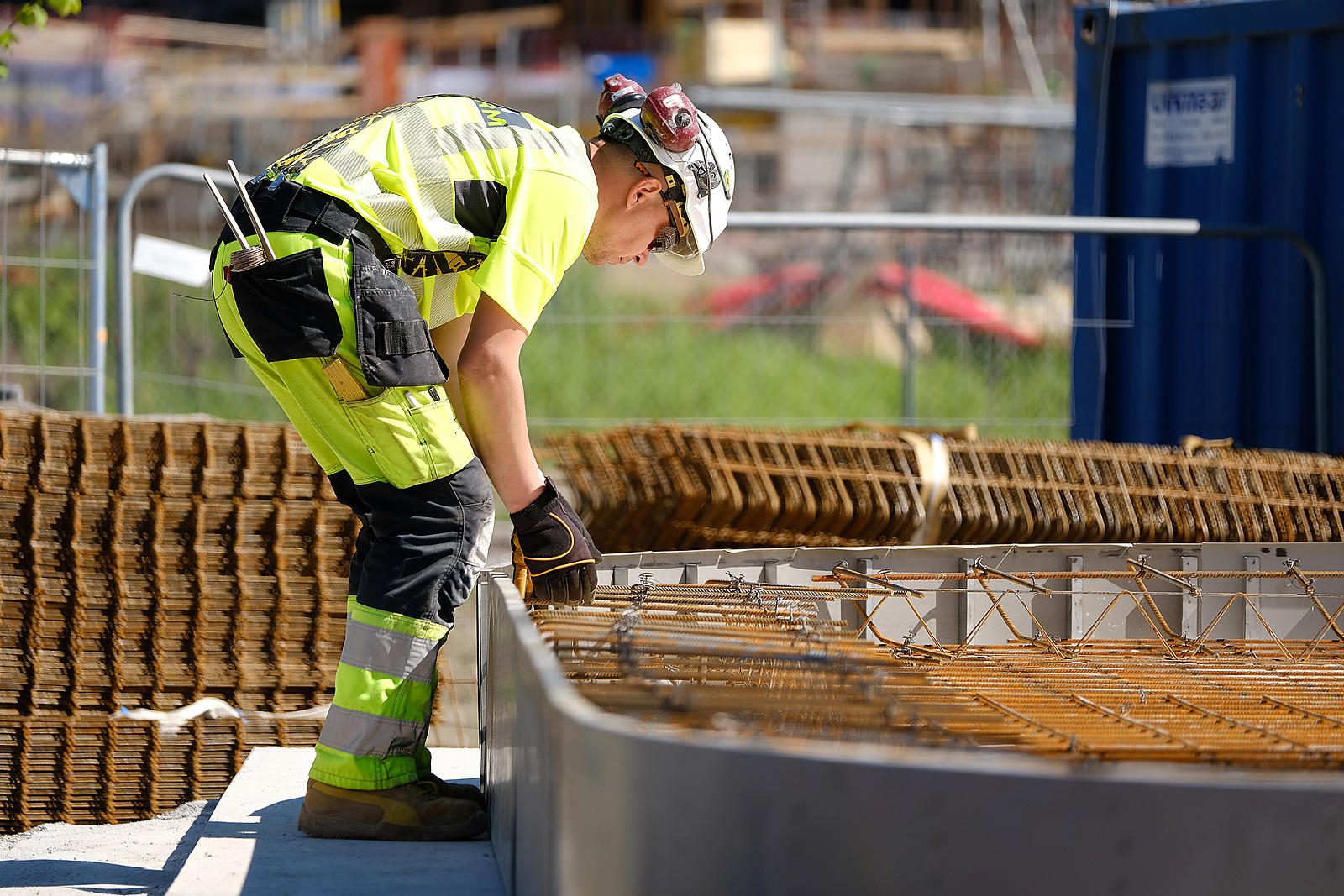 Industrial worker at a construction site