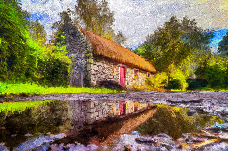 Little Cottage Reflections Painting
