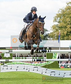 Lillian Heard and LCC BARNABY - Show jumping and prizes - Land Rover Burghley Horse Trials 2019