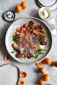 Blood Orange Burrata and Fennel Salad