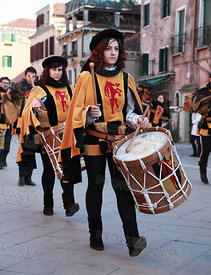 Medieval drummers band