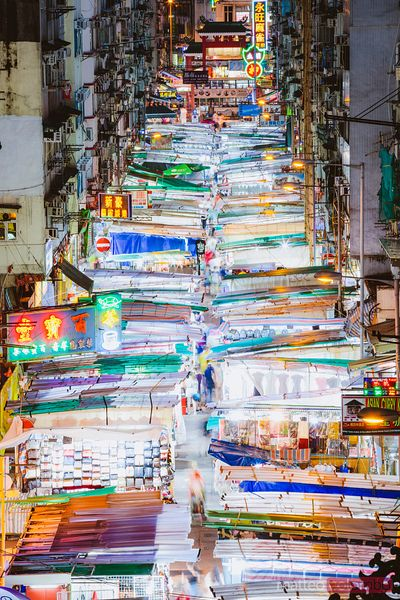 Temple street night market, Kowloon, Hong Kong